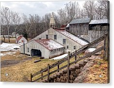 Hopewell Furnace In February-v2 Acrylic Print by Don Schroder
