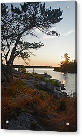 Hopewell Bay Island Wild Grass Sunset-1 Acrylic Print