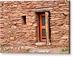 Hopi House Door Acrylic Print by Julie Niemela