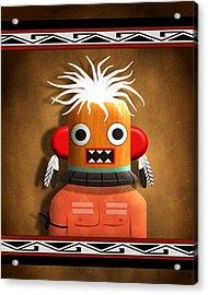 Acrylic Print featuring the digital art Hopi Indian Kachina by John Wills