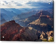 Acrylic Print featuring the photograph Hopi Point Sun Rays by Beverly Parks