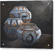 Hopi Pots Acrylic Print