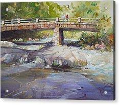 Hopper Bridge Creek Acrylic Print