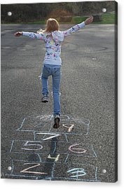 Acrylic Print featuring the photograph Hopscotch Queen by Richard Bryce and Family