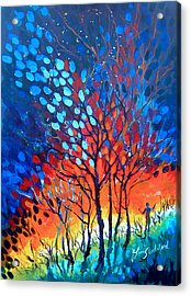 Acrylic Print featuring the painting Horizons by Linda Shackelford