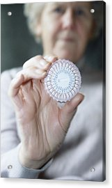 Hormone Replacement Therapy Pills Acrylic Print by Cristina Pedrazzini