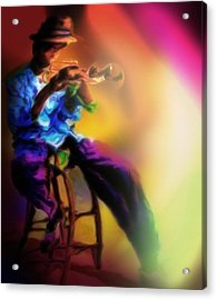 Horn Player 1 Acrylic Print