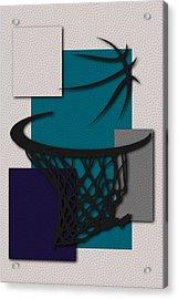Hornets Hoop Acrylic Print