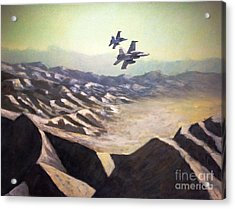 Hornets Over Afghanistan Acrylic Print by Stephen Roberson