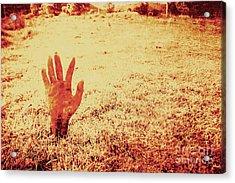Horror Hand Of A Zombie Awakening Acrylic Print