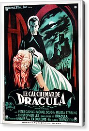 Horror Of Dracula Aka Le Cauchemar De Acrylic Print by Everett
