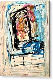 Horror On Blue Tv Acrylic Print by Dr Ernest Williamson III