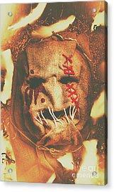 Horror Scarecrow Portrait Acrylic Print by Jorgo Photography - Wall Art Gallery