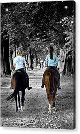 Horsback Rider In Hellbrunn Acrylic Print