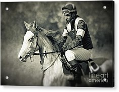 Horse And Jockey Acrylic Print