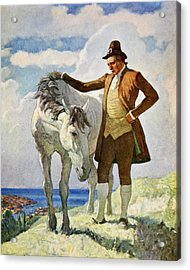 Horse And Owner Acrylic Print by Newell Convers Wyeth