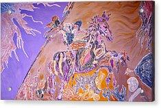 Horse Back Rider Acrylic Print by Sima Amid Wewetzer