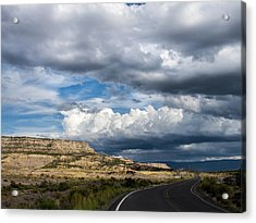 Acrylic Print featuring the photograph Horse Canyon By De Beque Colorado by Nadja Rider