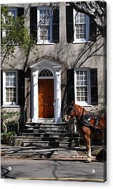Horse Carriage In Charleston Acrylic Print