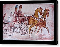 Horse Chariot Acrylic Print by Anand Swaroop Manchiraju
