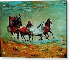 Horse Chariot Acrylic Print