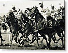 Horse Competition Vi - Horse Race Acrylic Print