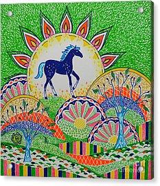 Horse Design Drawing No.1 Acrylic Print