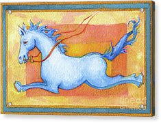 Horse Detail From H Medieval Alphabet Print Acrylic Print