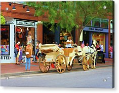 Horse-drawn Carriage In Nashville, Tennessee Acrylic Print by Art Spectrum