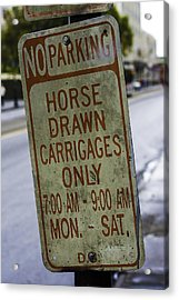 Horse Drawn Carriage Parking Acrylic Print