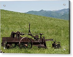 Acrylic Print featuring the photograph Horse Drawn Ditch Digger by Daniel Hebard