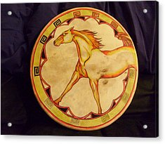 Horse Drum Acrylic Print by Angelina Benson