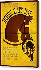 Horse Eats Hat - Maxine Elliot's Theatre - Vintage Poster Folded Acrylic Print