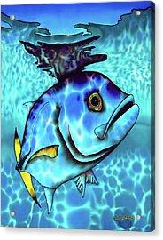 Horse Eyed Jack Fish Acrylic Print