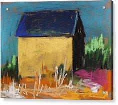 Horse Farm Barn Acrylic Print by John Williams