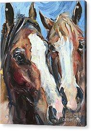 Horse Heads Acrylic Print