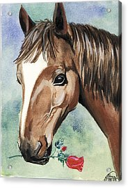 Horse In Love Acrylic Print