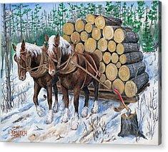 Horse Log Team Acrylic Print