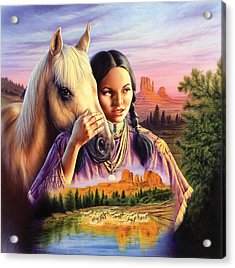 Horse Maiden Acrylic Print by Andrew Farley