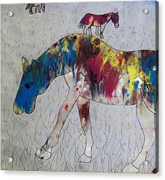 Acrylic Print featuring the painting Horse Of A Different Color by Thomasina Durkay