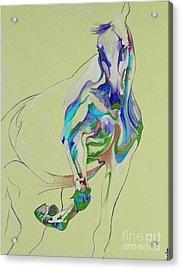 Horse Painting 675k Acrylic Print by Yaani Art
