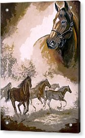 Horse Painting A Dream Of Running Wild Acrylic Print