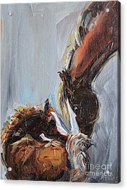 Horse Painting, Mare And Foal Acrylic Print