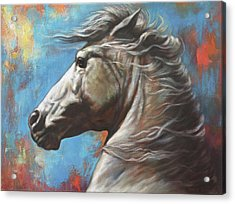 Acrylic Print featuring the painting Horse Power by Harvie Brown