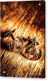 Horse Racing Cuff Links Acrylic Print