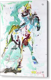 Horse Racing Painting Acrylic Print