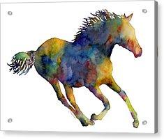 Horse Running Acrylic Print