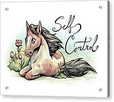 Fruit Of The Spirit Self Control Acrylic Print