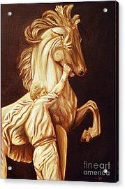 Horse Statue Acrylic Print by Nancy Bradley