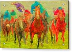 Horse Tracking Acrylic Print